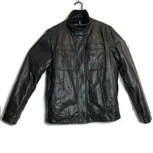 Levis Faux Leather Bomber Zipper Motorcycle Jacket